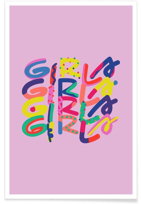 Motivational, Girls Girls Girls Poster