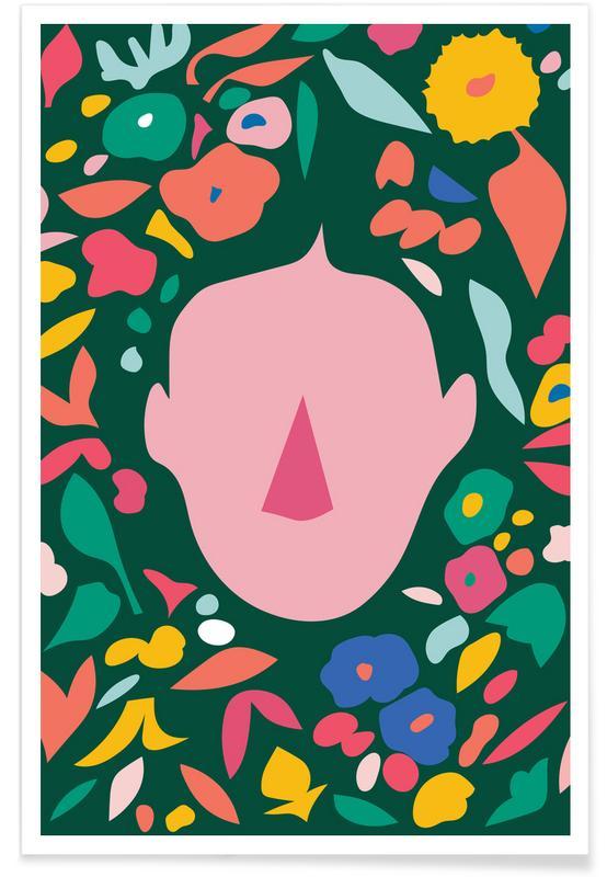 , Floral Portrait Poster