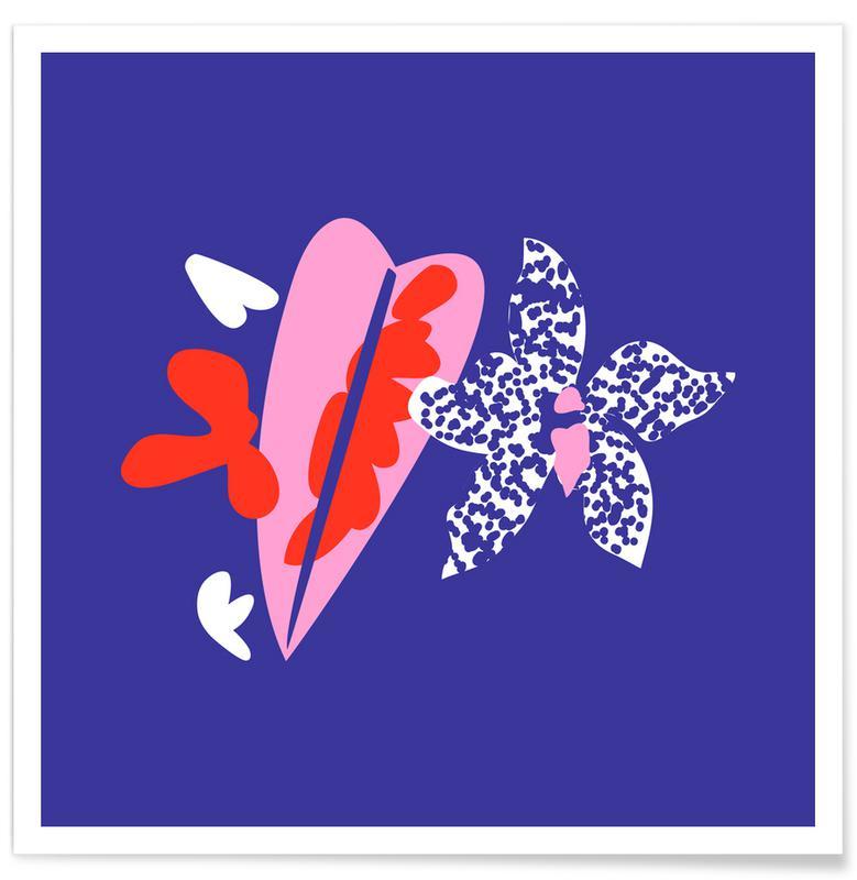 , Orchid Caladium Illo Study affiche