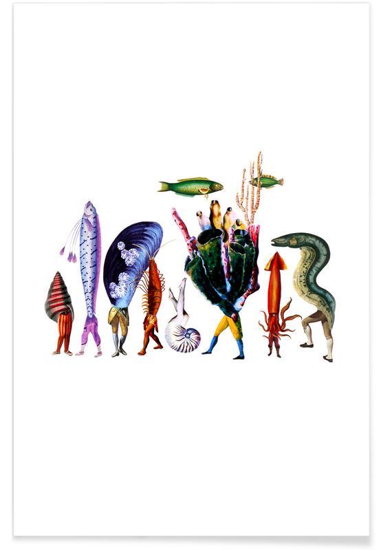 Creatures & Hybrids, Retro, Island Creek #1 Poster