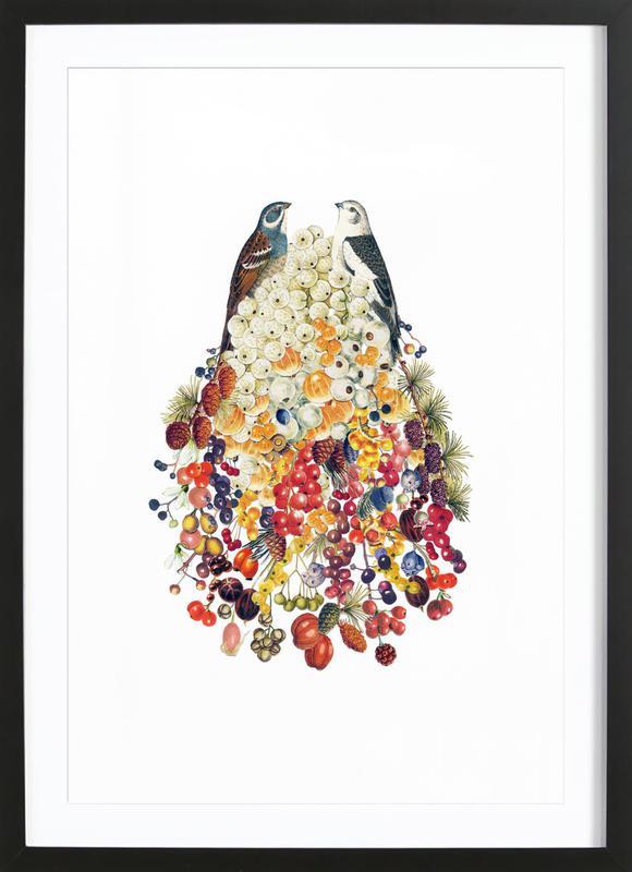 Lovebirds in Winter Framed Print