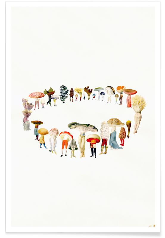 Creatures & Hybrids, Retro, Fairy Ring Poster