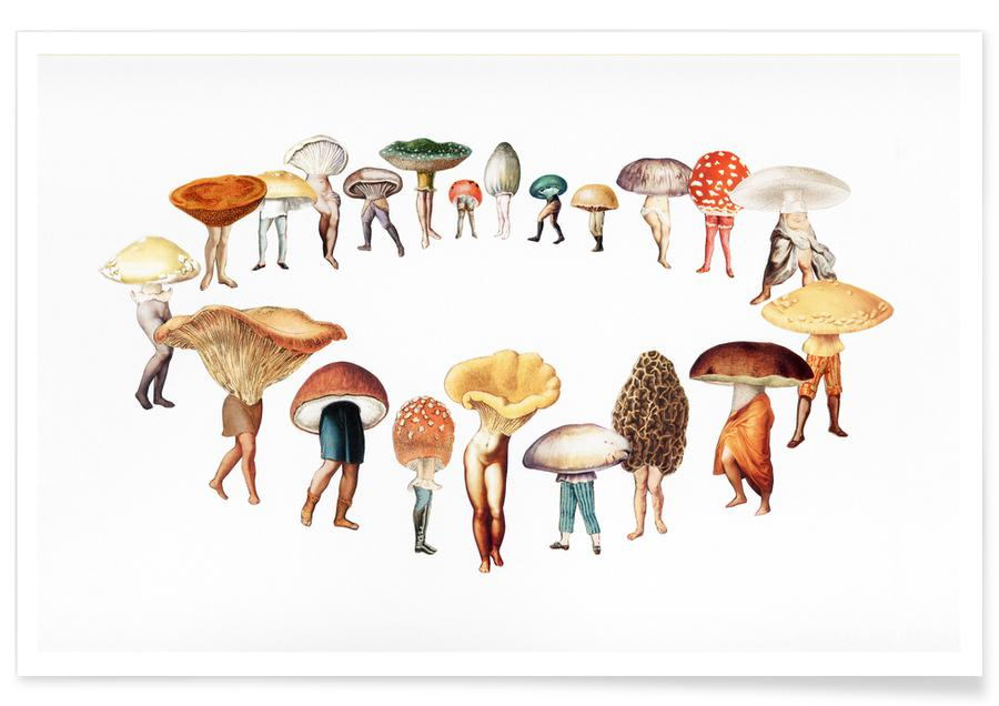 Creatures & Hybrids, Retro, Spring Fairy Ring Poster
