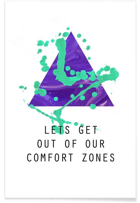 Motivational, Quotes & Slogans, Comfort Zones Poster