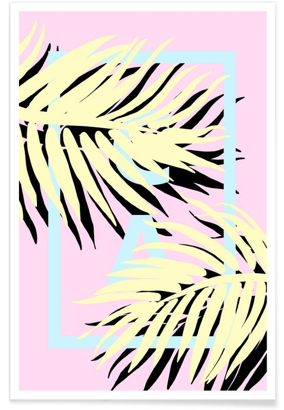 Leaves & Plants, Cali Pink Poster