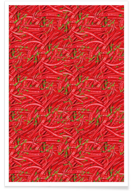 Peppers, Patterns, Chilli Poster