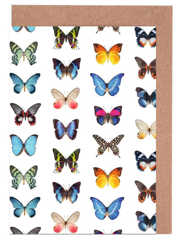 Colourful Butterflies Greeting Card Set