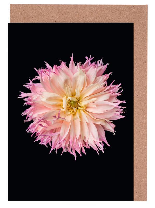 Pink Star Dahlia cartes de vœux