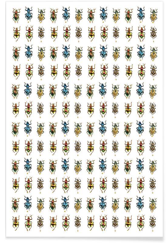 Muster, Käfer, Tiny Beetles -Poster