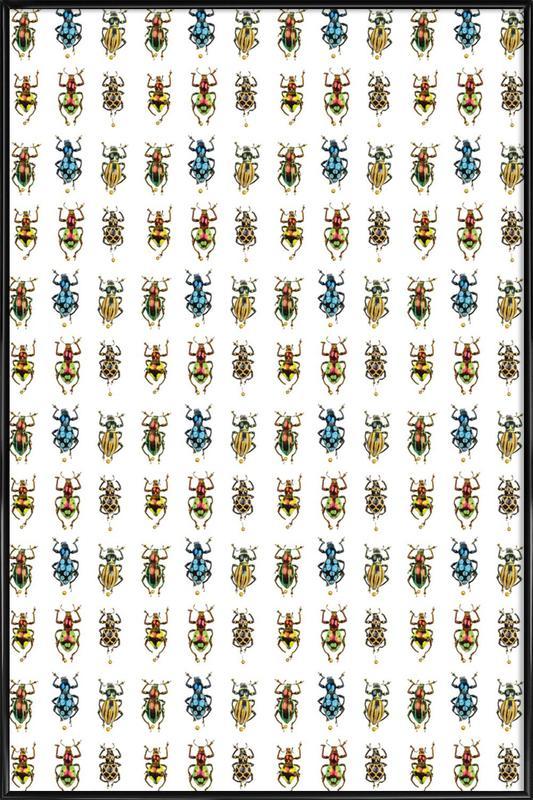 Tiny Beetles -Bild mit Kunststoffrahmen
