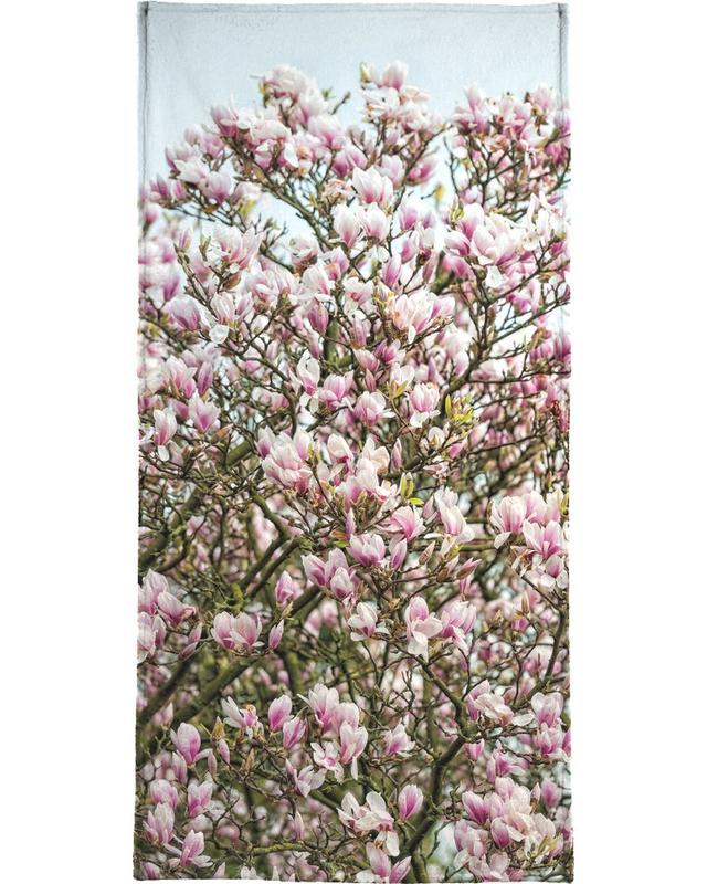 Magnolia Tree Pink Beach Towel