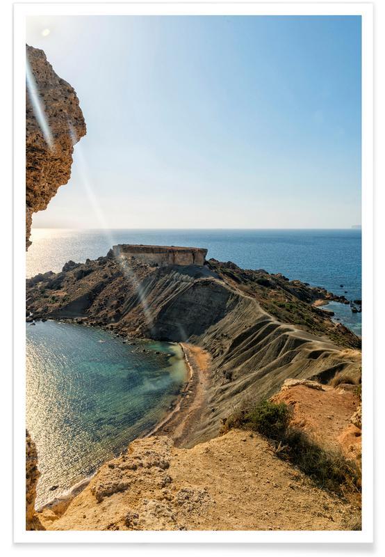 Bergen, Stranden, Magical Malta Vulcanic Mountain poster