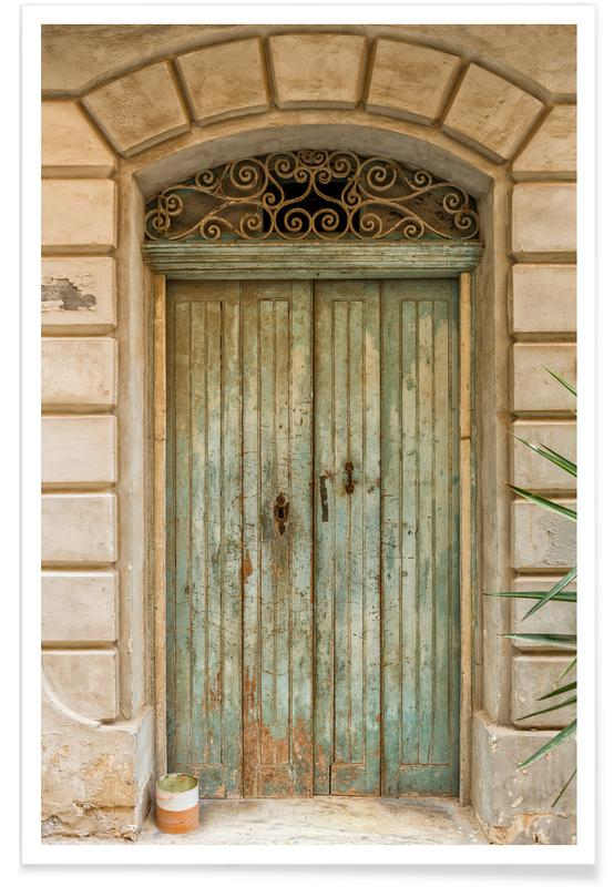 Architekturdetails, Magical Malta Old Wooden Door -Poster