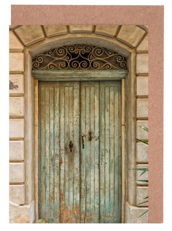 Architekturdetails, Magical Malta Old Wooden Door -Grußkarten-Set