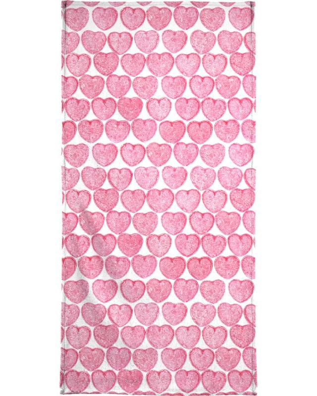 Pink Hearts -Strandtuch