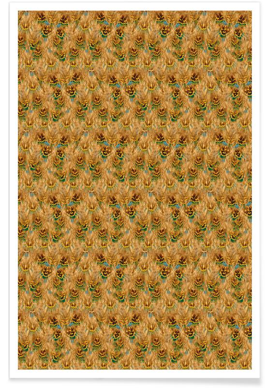 Feathers, Patterns, Fluffy Feathers Poster