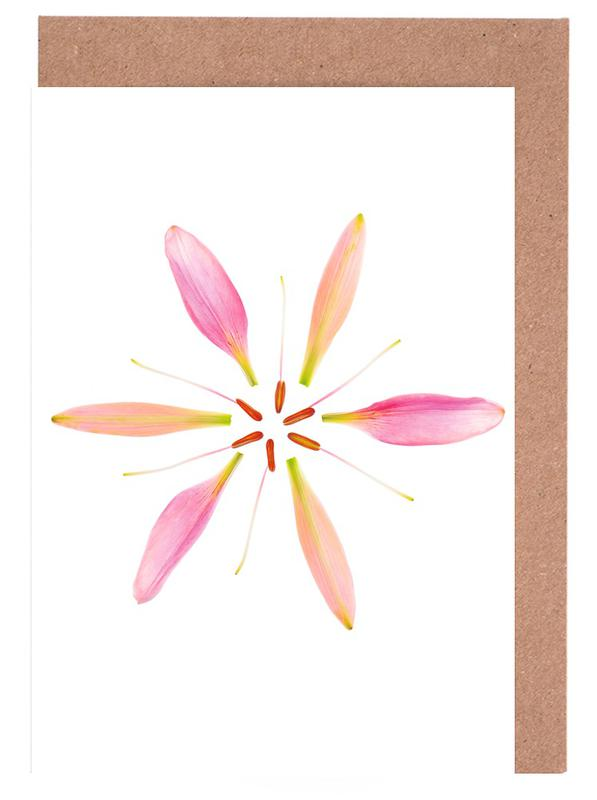 Glückwünsche, Lilien, Blätter & Pflanzen, Lilly Flower -Grußkarten-Set