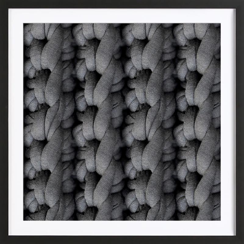 Cotton Pattern -Bild mit Holzrahmen