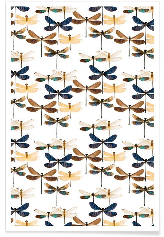 Libellules, Dragonflies affiche