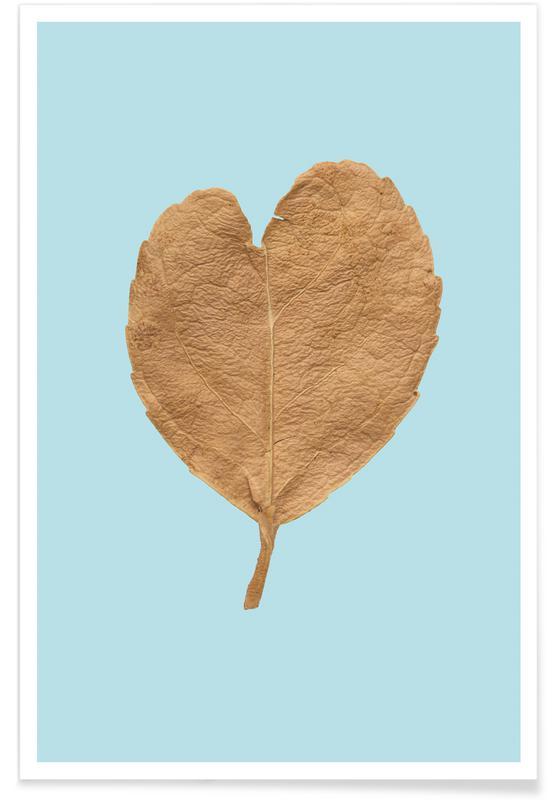 Bladeren en planten, Harten, Jubileums en liefde, Heart XII poster