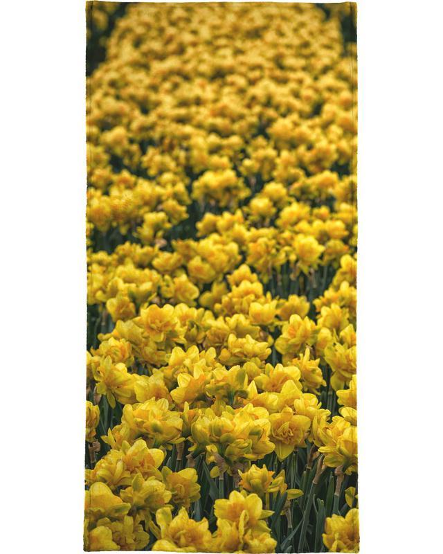 Golden Tulips Bath Towel