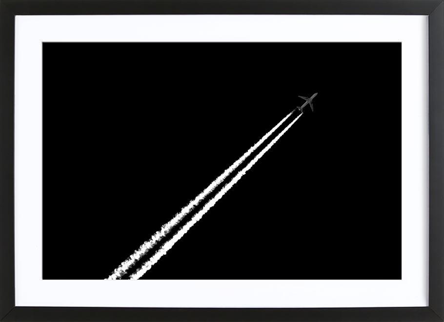 Black and White affiche sous cadre en bois