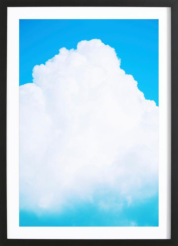 Blue Clouds III affiche sous cadre en bois