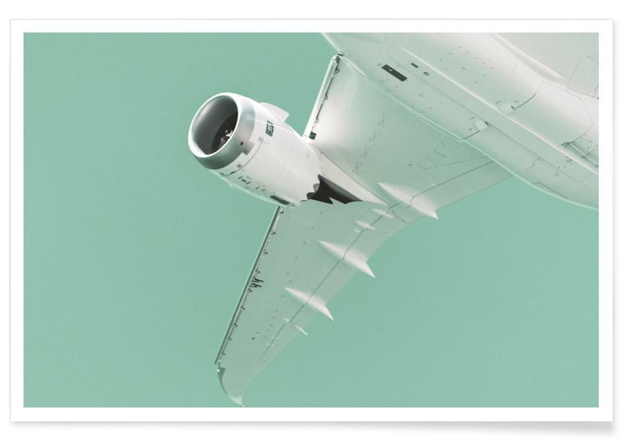 Airplanes, Overhead X Poster