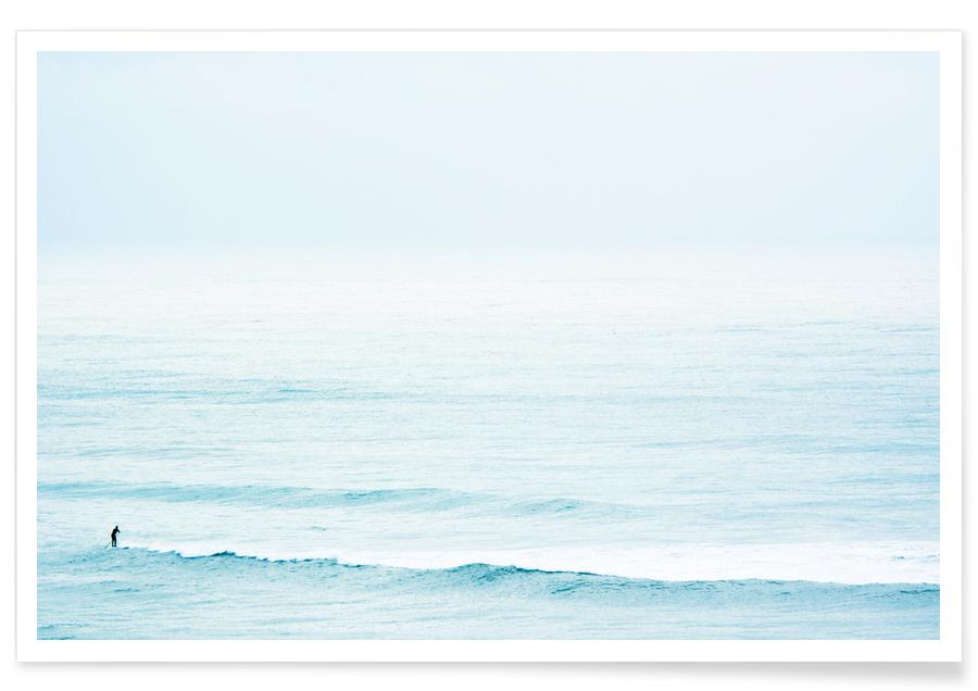 Ocean, Lake & Seascape, Surfing, Winter Surfing Poster