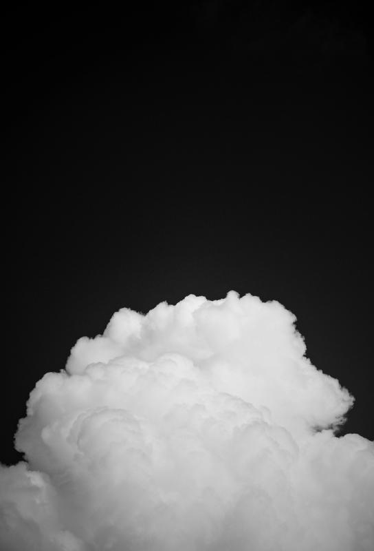 Black Clouds II tableau en verre