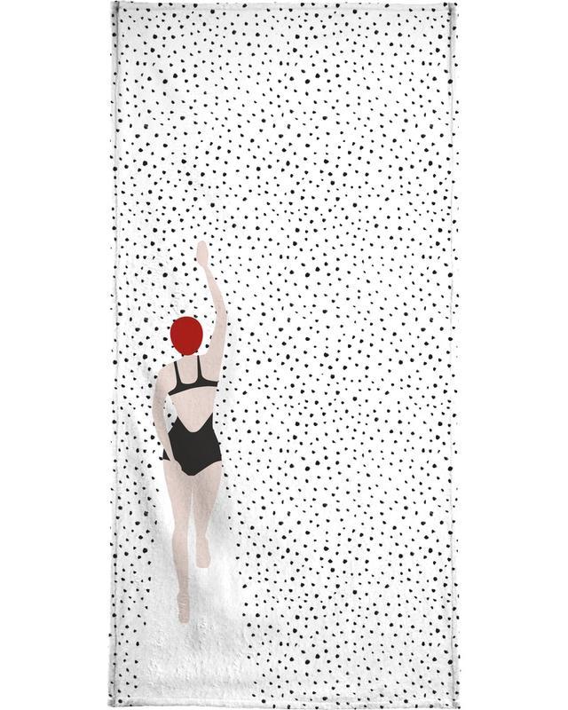 Punktschwimmer -Handtuch