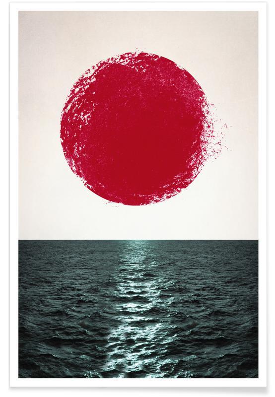 Paysages abstraits, Sunset affiche