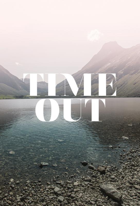 Time Out Aluminium Print