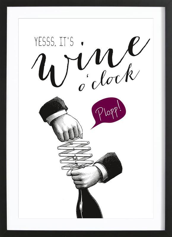 Wine o'clock Framed Print