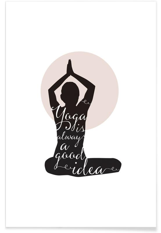 Yoga, Citations et slogans, Motivation, Yoga affiche
