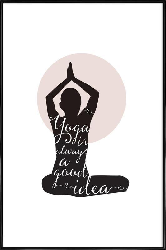 Yoga -Bild mit Kunststoffrahmen