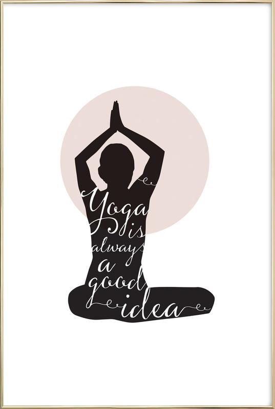 Yoga -Poster im Alurahmen