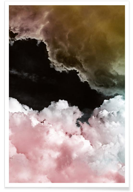 Abstract Landscapes, Skies & Clouds, Rosa Wolken Poster