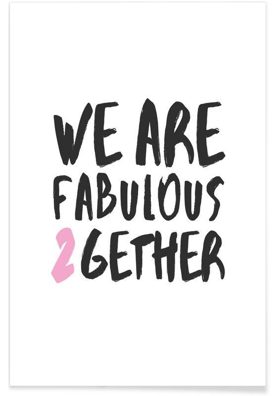 Citations d'amour, Citations et slogans, Saint-Valentin, Fabulous Together affiche