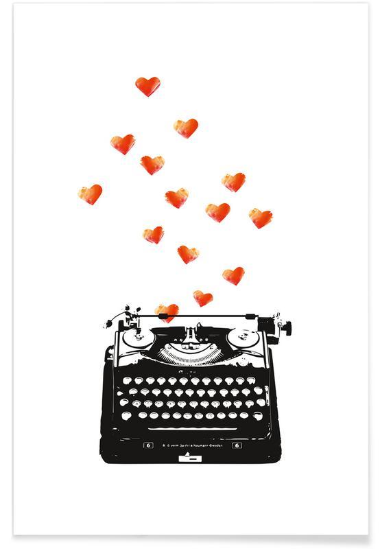Anniversaires de mariage et amour, Saint-Valentin, Loveletter affiche