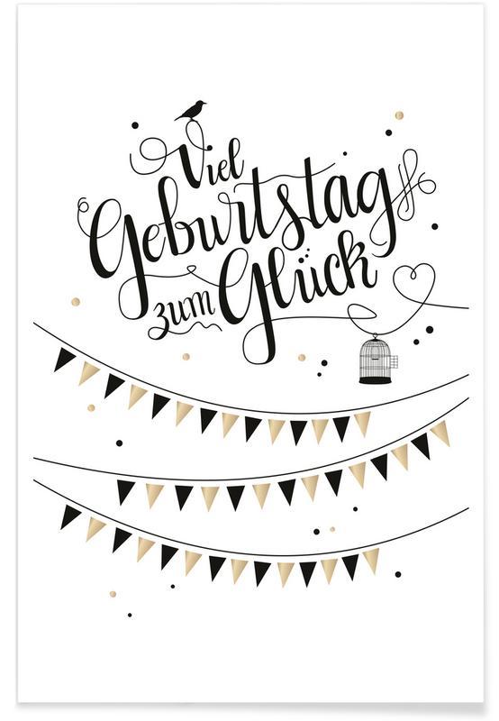 Birthdays, Funny, Viel Geburtstag zum Glück Poster