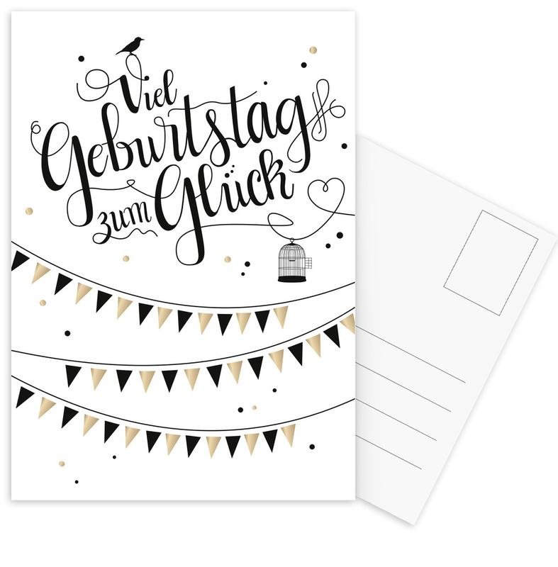 Anniversaires, Humour, Viel Geburtstag zum Glück cartes postales