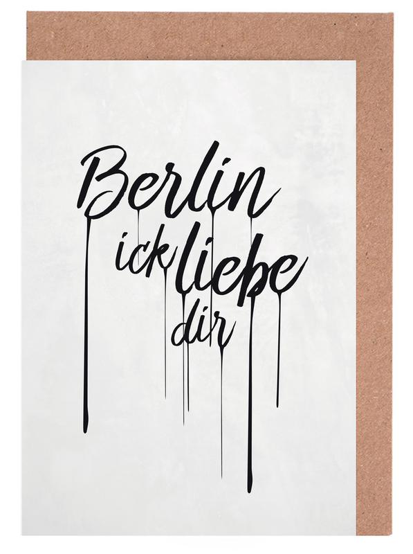 Berlin ick liebe dir -Grußkarten-Set