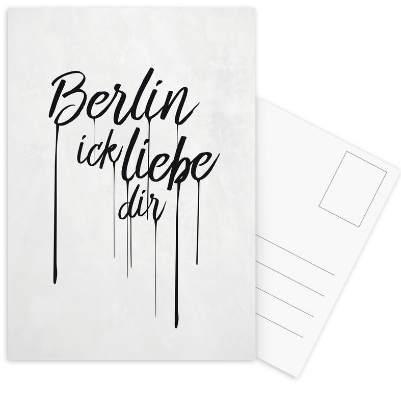 Noir & blanc, Citations et slogans, Berlin, Berlin ick liebe dir cartes postales