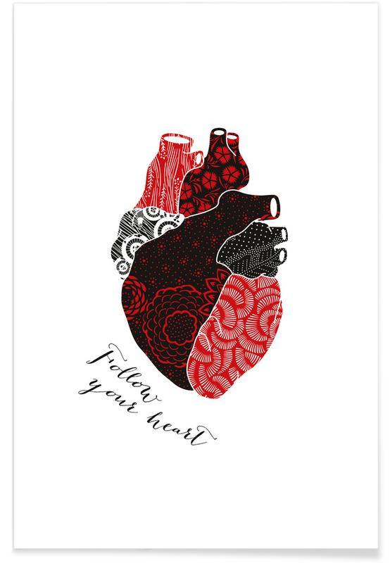 Cœurs, Anniversaires de mariage et amour, Mariages, Follow Your Heart affiche