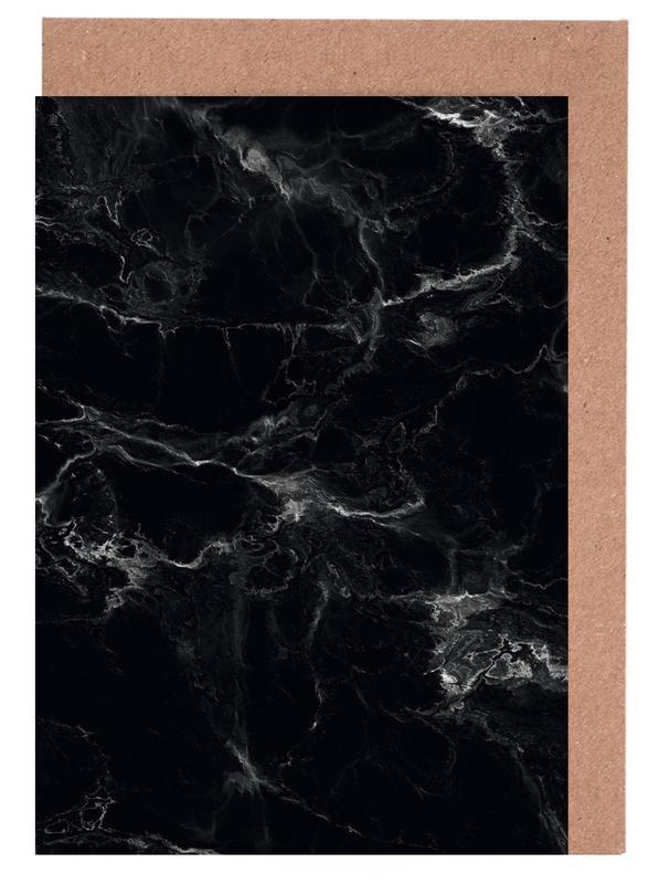 Schwarzer Marmor Greeting Card Set