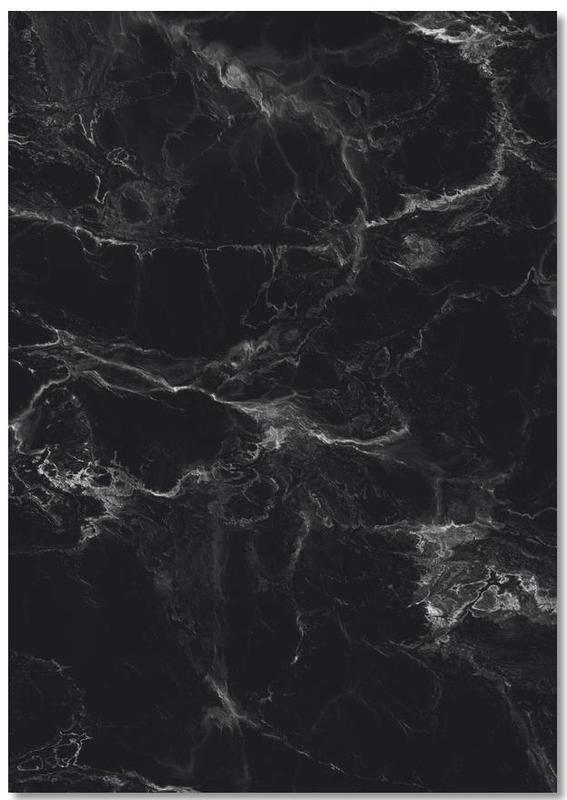 Schwarzer Marmor Notepad