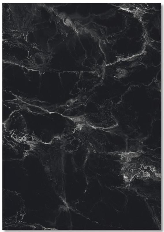 Schwarzer Marmor -Notizblock