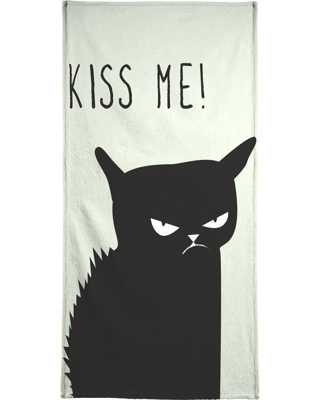 Kiss Me Cat Beach Towel
