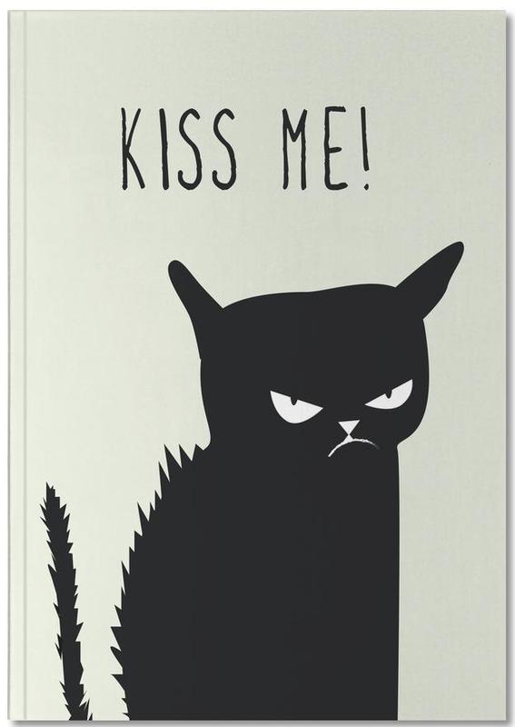 Cats, Funny, Love Quotes, Kiss Me Cat Notebook